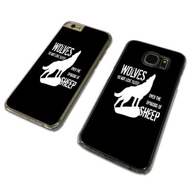 WOLVES DONT LOSE SLEEP CLEAR PHONE CASE COVER fits iPHONE / SAMSUNG (TH)