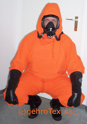 Schutzanzug hazmat suit Overgarnement orange