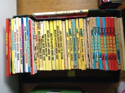 Job Lot 40+  Annuals.  Beano Whizzer Chips Cor Buster And More 1970s 1980s 1990