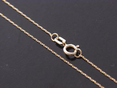 Real 10Kt Yellow Gold Solid Thin Twisted Box Chain Necklace  real gold