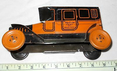Chein Yellow Taxi , N.Y. 1923, 6415 aprox 8 inches long, 1920's