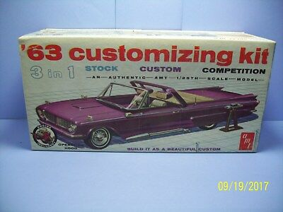 Amt 06-713-149 1963 Chevrolet Impala Ss Convertible 3 In 1 Customizing Model Kit