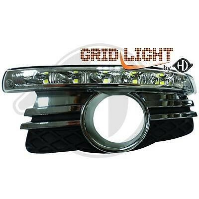 Pair Grid Fog Lamp With Daylight Mercedes C Class W204 2007-2011 1672688
