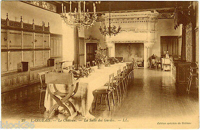 French postcard LANGEAIS Le Chateau La Salle Des Gardes from Russian collection