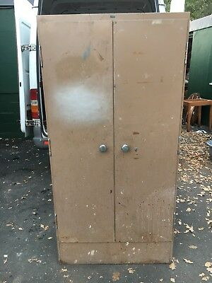 Vintage Vickers Armstrong Double Door Metal Locker / Storage Cabinet