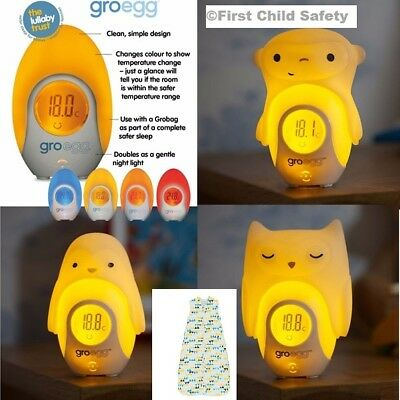 Gro Egg Room Thermometer Groegg Baby Safety Colour Changing Shell Grobags NEW