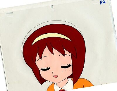 Japan Anime Girl ORIGINAL Animation CELL from 1980s unknown show Fine/Near Mint