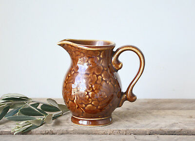 Vintage Small Brown Ceramic Creamer