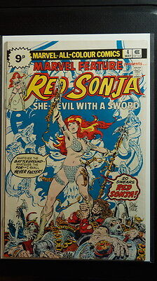 Marvel Feature Red Sonja No. 4 (Marvel 1976) British edition, Early app