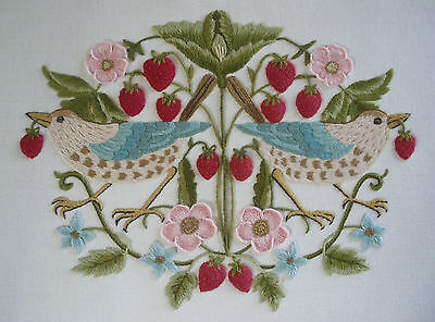 'The Strawberry Thief' a Crewel Embroidery kit from Needlewoman Studio