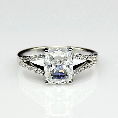 AUTH HUGE diamond ring engagement proposal bridal wedding band 14K GOLD PT950