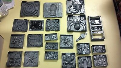 Lot of 22 Vintage Toymax and Flying Colors Metal Molds Creepy Crawlers