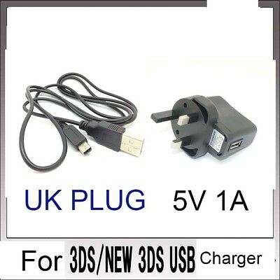 UK POWER AC CHARGER CABLE  for Nintendo DSi NDSi DSiXL 3DS 3DSXL/LL NEW3DS