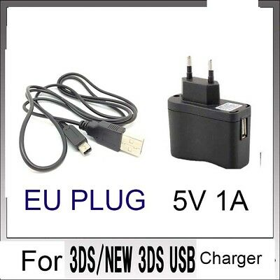 EU POWER AC CHARGER CABLE  for Nintendo DSi NDSi DSiXL 3DS 3DSXL/LL NEW3DS