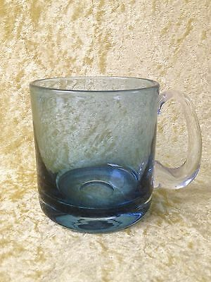Wedgwood Glass Blue Tankard