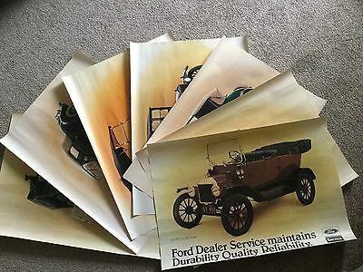 Ford Sure Service Posters Cars from 1906-1935