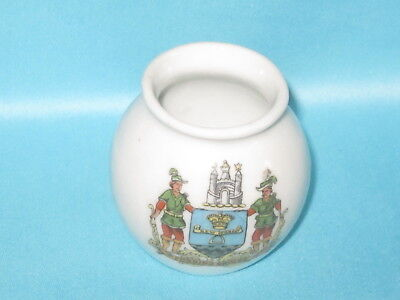 German factory Vase - FORDING BRIDGE crest
