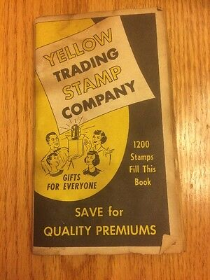 Vintage PHILADELPHIA YELLOW TRADING STAMP CO SAVINGS SAVER BOOK