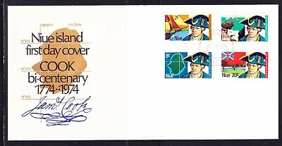 Niue 1974 Captain Cook Bicentenary First Day Cover Unaddressed