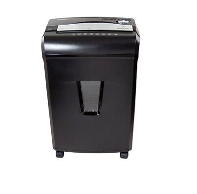 AURORA 12 SHEET JAM FREE CROSS-CUT PAPER SHREDDER CD Credit Card - Black/Silver