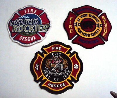 Fort St. John, Fort Nelson, Northern Rescue Fire, Rescue patches