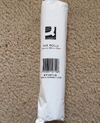 New and Sealed Q-Connect Fax Rolls