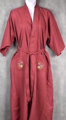 VINTAGE EMBROIDERED KIMONO ROBE BY HEALTH SHANGHAI CHINA Size Small