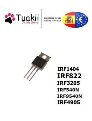 Transistor Mosfet IRF540n IRF1404 IRF9540N IRF4905 IRF3205 IRF822 TO220