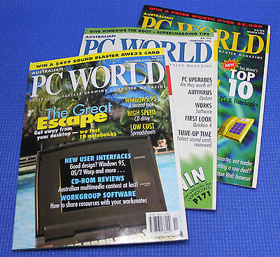 Australian PC World Magazines from 1995 (3 Issues)