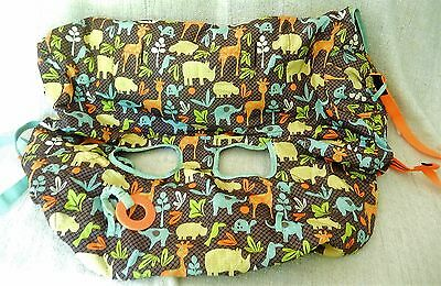 INFANTINO  Baby Stroller Shopping Cart High Chair Cover Brown Wild Animals
