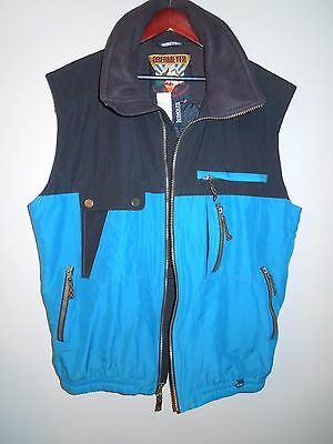 Obermeyer Skiwear Heavy Duty Vest Termolite Black/teal Size Xl Tall Men's