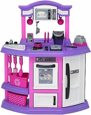 American Plastic Toys Bakers Kitchen Ft. Light Up Burner With Sound!