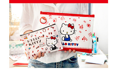 Hello Kitty Pencil Bag Document Wallet Filling A4 / A5 Makeup Back to School