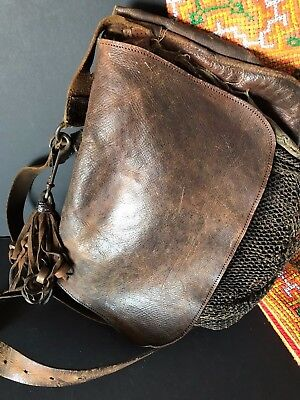 Old Italian Leather Bird Hunters Shoulder Bag - 19th Century …beautiful age & pa