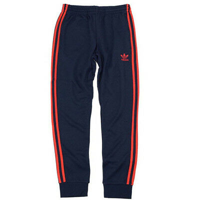 366c85dc02a Adidas Originals Superstar Track Pants Joggers Navy Red Vintage Old School