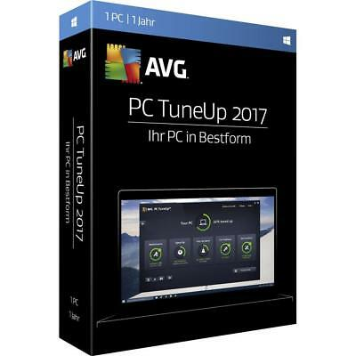 AVG PC TuneUp 2017 1 PC User 1 Year Clean and Speed Up License Key