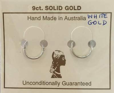 SALE!- 9Ct White Gold All Day Mini Plain Sleepers ADSLP8/9W RRP $167.95