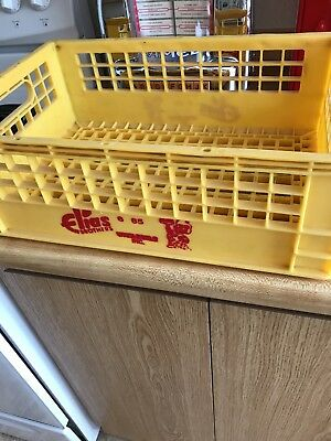 Vintage Elias Brothers Big Boy Yellow Hard Plastic Box Shipping Crate