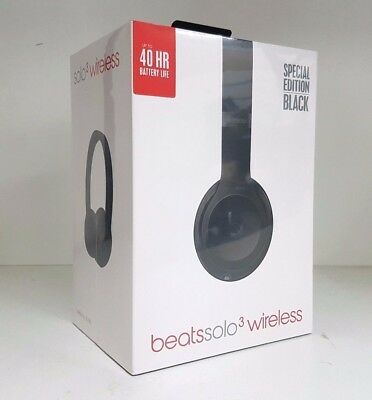 Brand New Dr. Dre Beats Solo 3 Wireless Headphones (Black) In Box MP582PA/A