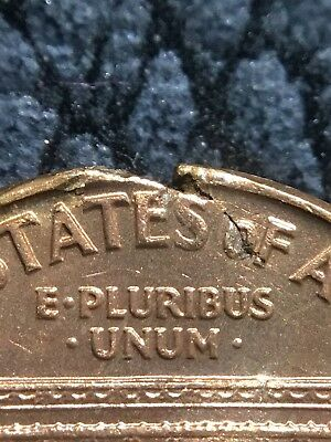 1960 Lincoln Cent Red - Defective Die/ragged Cracked Planchet - Ms++ - Inv#5752