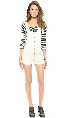 155b377a6e5 FREE PEOPLE CENTURY Button Front Shortalls Overalls New -  19.99 ...