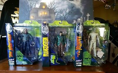 Diamond Select Universal Monsters; FRANKENSTIEN, THE WOLFMAN and THE MUMMY. NIB