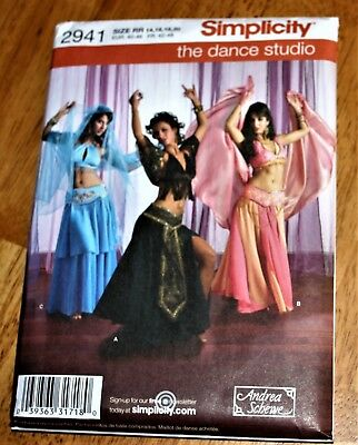 Simplicity Costume Pattern #4249 Exotic Belly Dance Sizes 14,16,18,20 Uncut New
