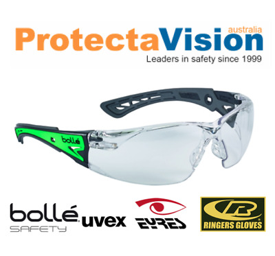 Brand New *10 Pairs* - Bolle Rush Plus GLOW - Safety Glasses - Glow in the dark