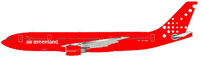 Inflight 200 If3320118 1/200 Air Greenland Airbus A330-200 Oy-Grn With Stand