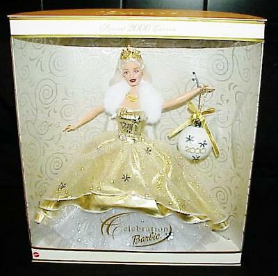 New In Box Mattel Barbie Doll Holiday Celebration Special Edition 2000 Ornament