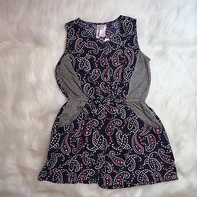 e19b63211c10 Girls Romper Japna Size 8 Paisley Button Front Multi Colored Cinched Waist  - NWT