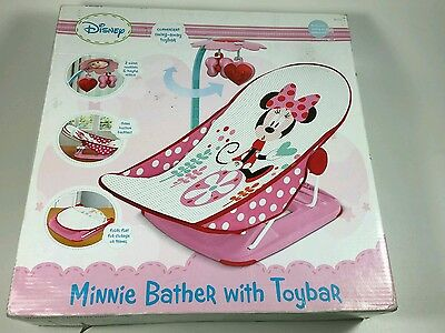 Disney Minnie Mouse Baby Bath Bather Toy Bar Newborn Girl Non Slip Water Seat