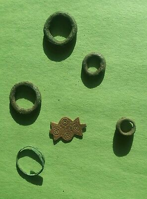 Lot of ancient authentic Celtic bronze items ,ring ,proto money
