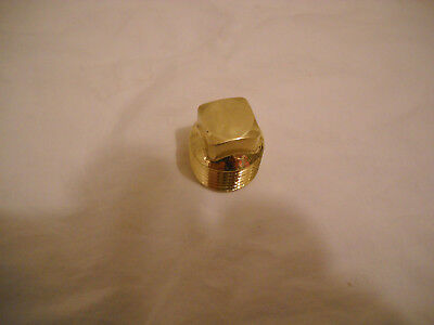 """Gamewell 1/2"""" Highly Polished Brass Plug For Fire And Police Call Box"""